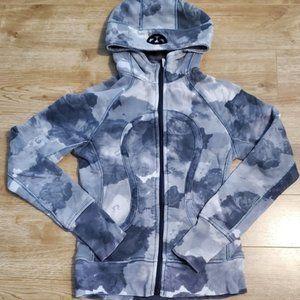 🍋Lululemon Scuba Hoodie Grey/White Cloud Size 4